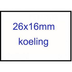 Prijsetiket 26x16 rechthoek permanent / koeling p/36 rol